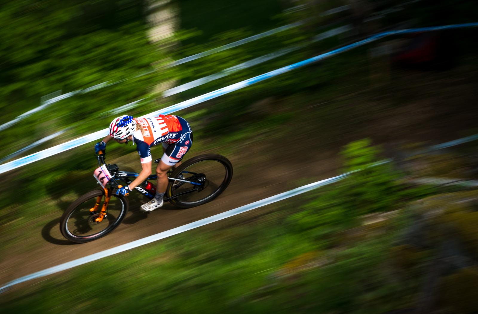 Cyclist Chloe Woodruff